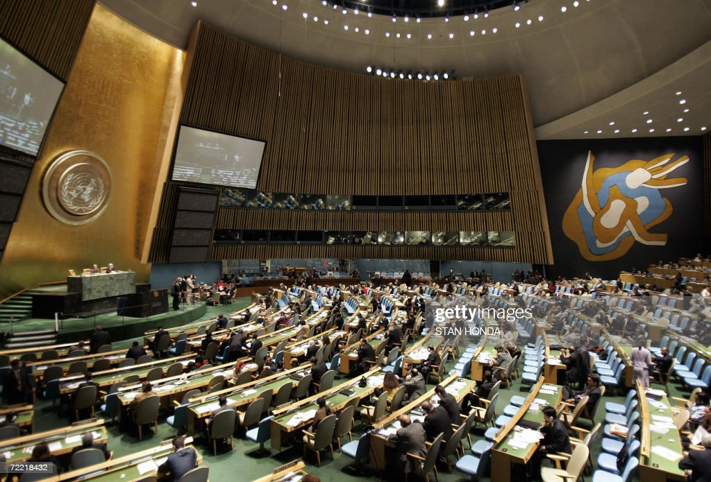 The United Nations General Assembly votes 19 October 2006 for the Latin American Group seat in the Security Council at UN headquarters in New York...