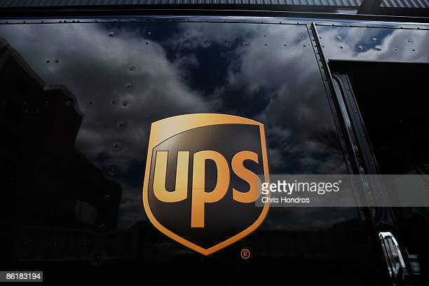 The United Parcel Service logo is emblazoned on the side of a delivery truck April 23 2009 in New York City United Parcel Service reported...