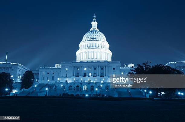The United States Capitol at night - Washington DC