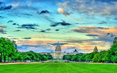 The United States Capitol on the National Mall in Washington, D.C.