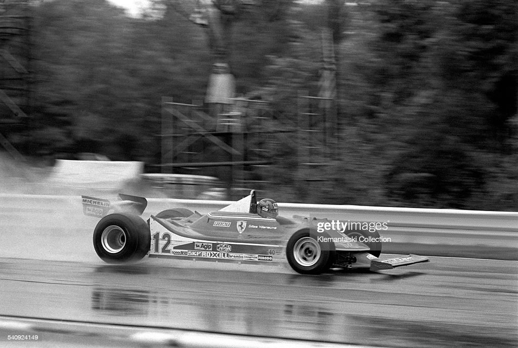 The United States Grand Prix Watkins Glen October 7 1979 Gilles Villeneuve streaks through the Fall rain in New York He was a master in the wet...