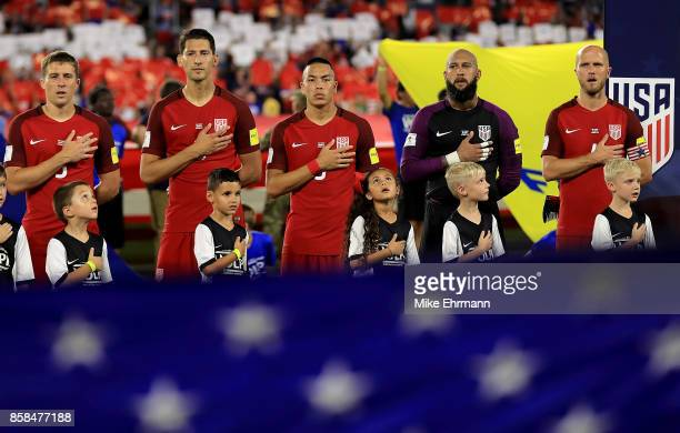 The United States Mens National Team looks on during the 2018 FIFA World Cup Qualifying match against Panama at Orlando City Stadium on October 6...