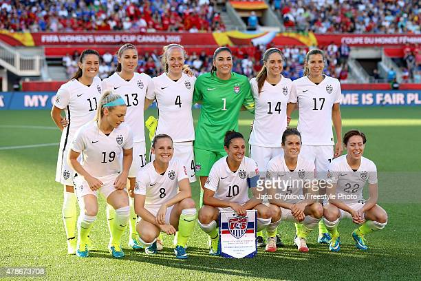 The United States pose for a team photo prior to the match against China in the FIFA Women's World Cup 2015 Quarter Final match at Lansdowne Stadium...