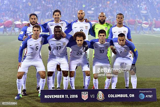 The United States poses for a photo prior to the FIFA 2018 World Cup Qualifier against Mexico at MAPFRE Stadium on November 11 2016 in Columbus Ohio