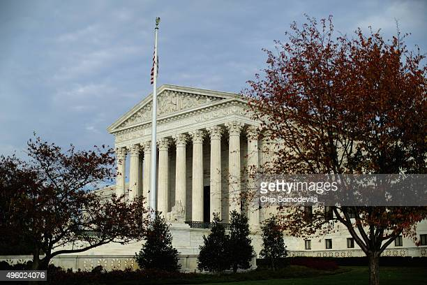 The United States Supreme Court building is framed by fall foliage November 6 2015 in Washington DC The court announced Friday that it will hear...