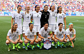 The United States team poses for a team picture before the match against the South Korea during an international friendly match at Red Bull Arena on...