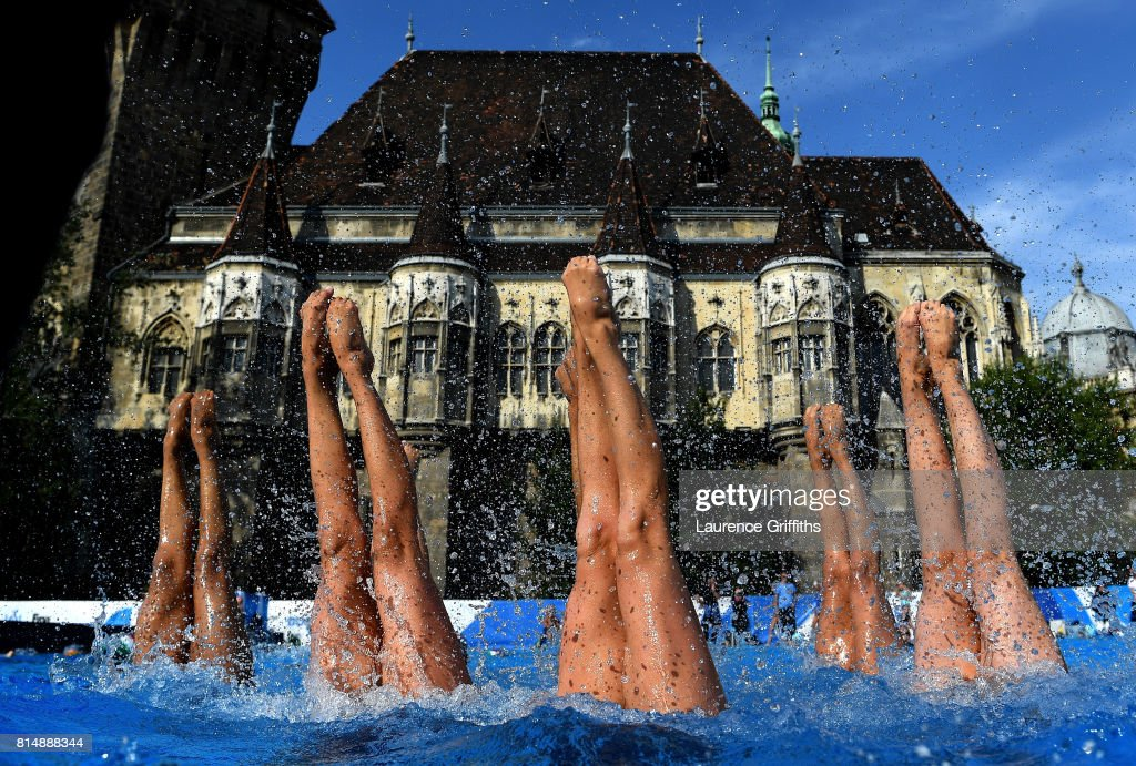 The United States train on day two of the Budapest 2017 FINA World Championships on July 15, 2017 in Budapest, Hungary.