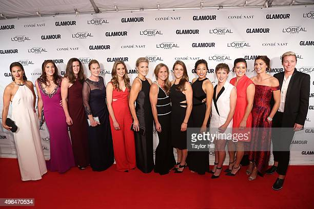 The United States Women's National Soccer Team attends Glamour's 25th Anniversary Women Of The Year Awards at Carnegie Hall on November 9 2015 in New...