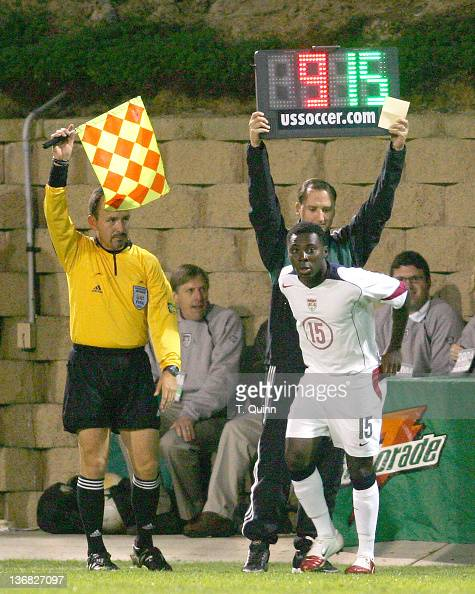 The United States World Cup team battled to a 00 tie with Canada at Torero Stadium at the University of San Diego January 22 2006 Freddy Adu prepares...
