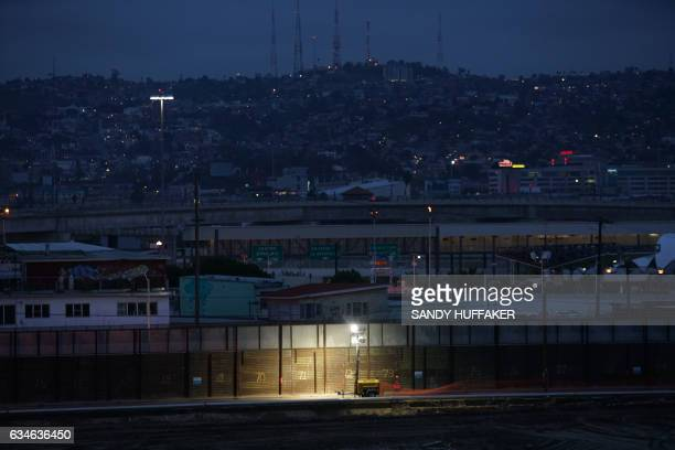 The United StatesMexico Border wall near the San Ysidro Port of Entry in San Ysidro California on Friday February 10 2017 US Department of Homeland...