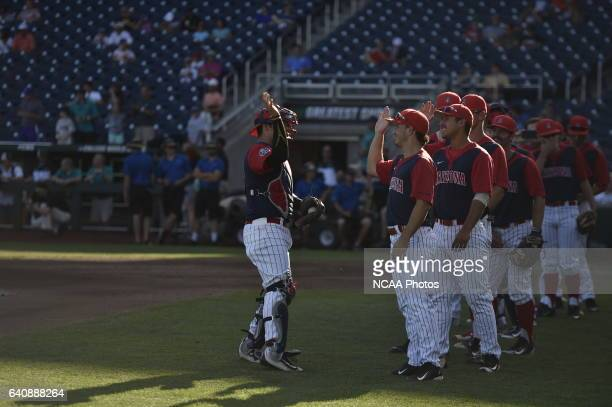 The University of Arizona Wildcats are introduced before the start of the game against Coastal Carolina University during the Division I Men's...