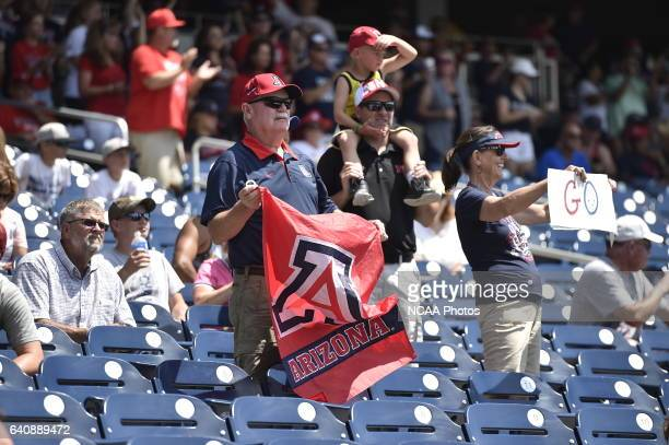 The University of Arizona Wildcats fans show their support against Coastal Carolina University during Game 3 of the 2016 NCAA Men's College World...