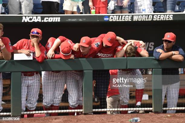 The University of Arizona Wildcats hope for a comeback in the 9th against Coastal Carolina University during Game 3 of the Division I Men's Baseball...