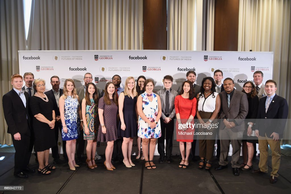 The University of Georgia Student Honor Board attends the Peabody-Facebook Futures Of Media Awards at Hotel Eventi on May 19, 2017 in New York City.