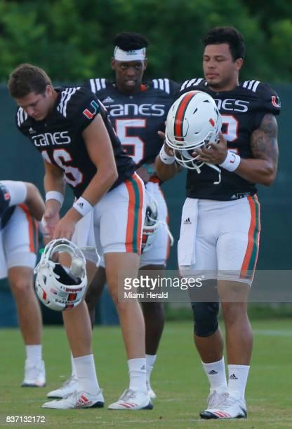 The University of Miami football team has chosen their starting quarterback Malik Rosier right for the coming season Evan Shirreffs N'Kosi Perry and...