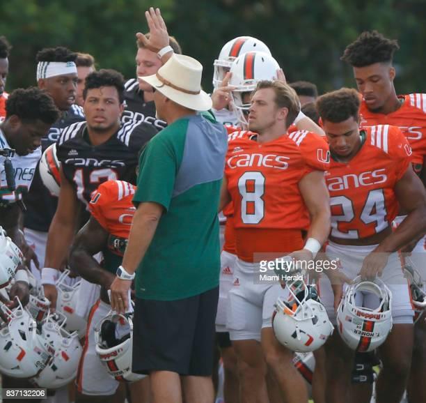 The University of Miami football team has chosen their starting quarterback Malik Rosier left for the coming season