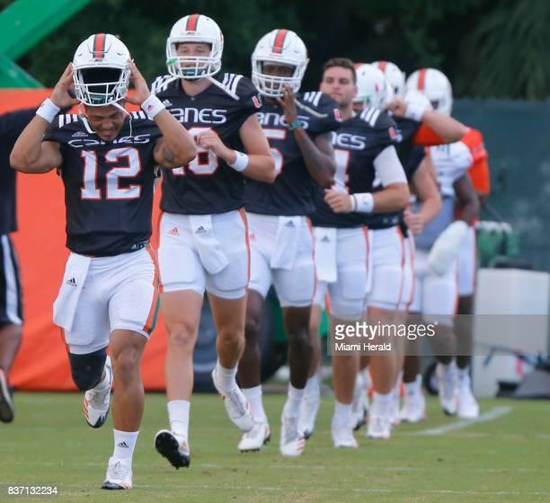 The University of Miami football team has chosen their starting quarterback Malik Rosier left for the coming season Rosier leads the pack of...