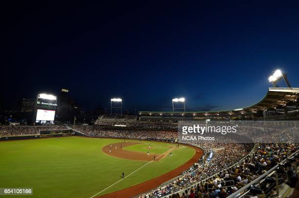 The University of Virginia takes on Vanderbilt University during the Division I Men's Baseball Championship held at TD Ameritrade Park in Omaha NE...