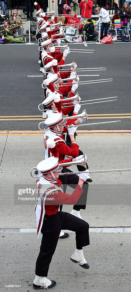 The University of Wisconsen float route during the 124th Rose Parade Presented By Honda on January 1, 2013 in Pasadena, California.