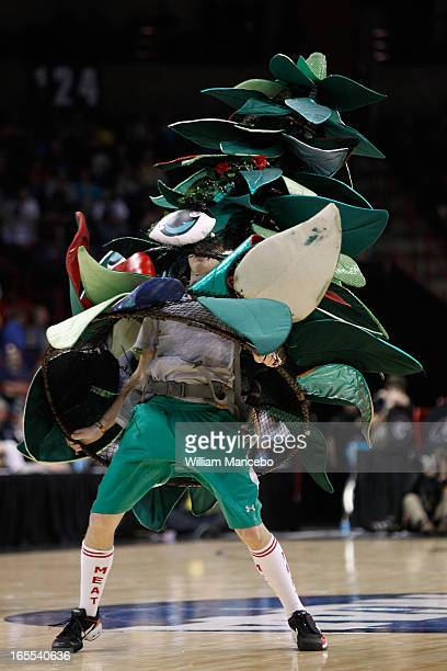 The unofficial tree mascot for the Stanford Cardinal performs at the game against the Georgia Lady Bulldogs during the NCAA Division I Women's...
