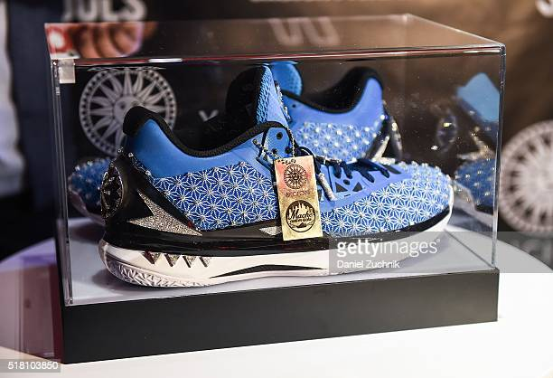 The unveiling of 'The Fire Monkey' the world's most expensive sneaker to benefit Soles4Soles on March 29 2016 in New York City