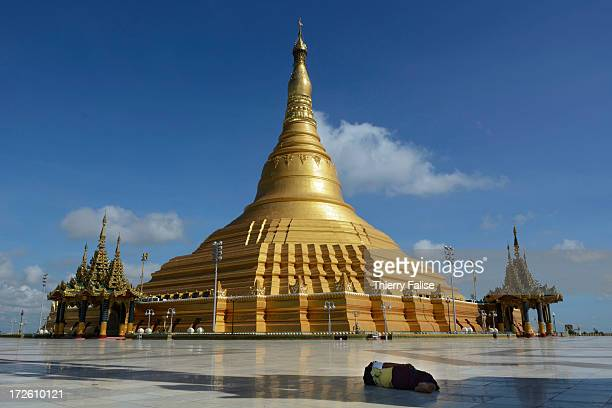 The Uppatasanti pagoda a samesized replica of the famous Shwedagon pagoda in Yangon was built by the military regime who has ruled the country until...