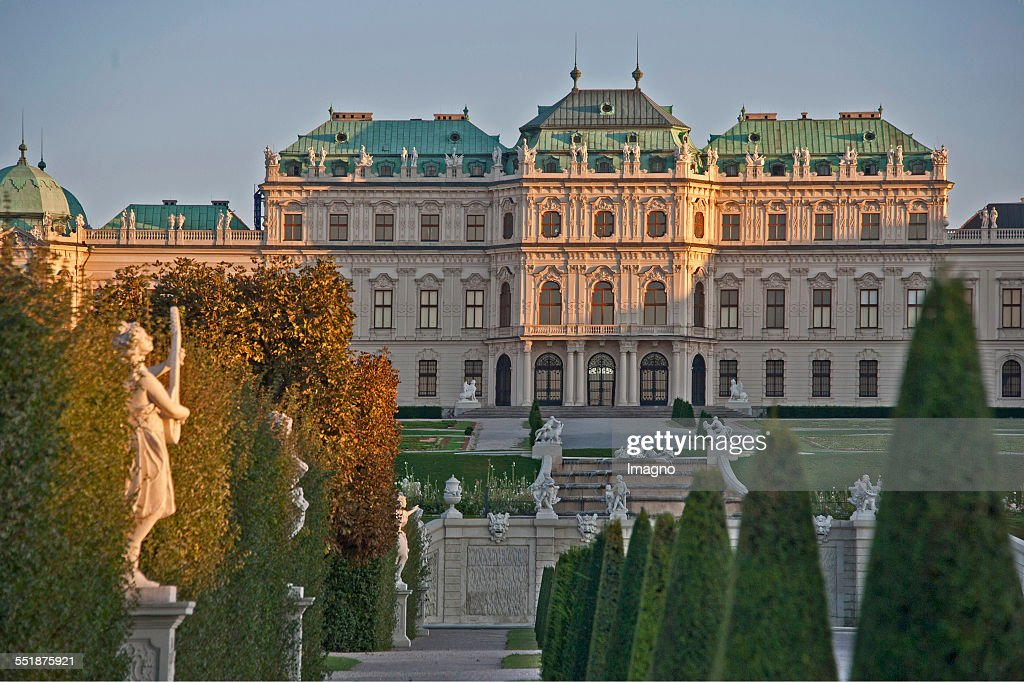 The Upper Belvedere Palace with garden Vienna 2013 Photograph by Gerhard Trumler