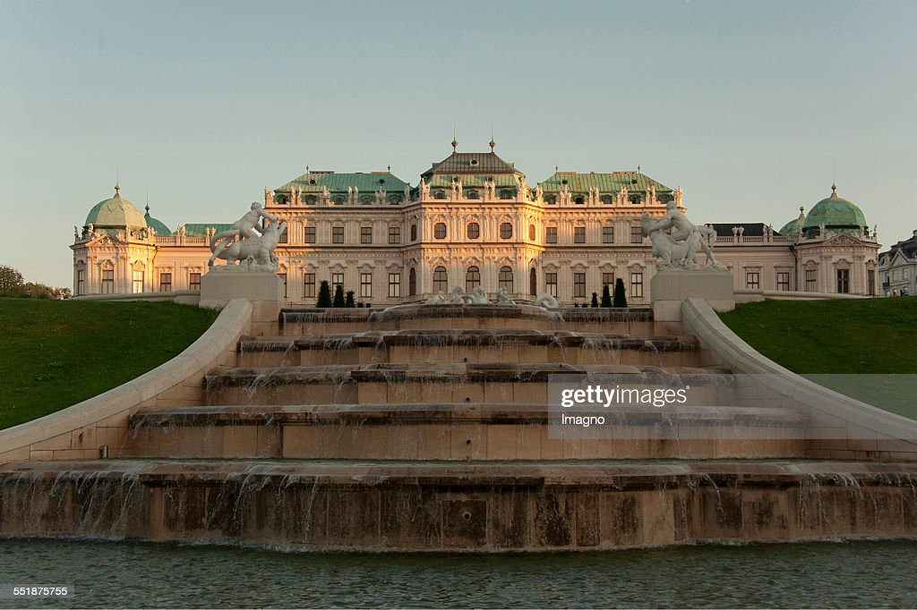 The Upper Belvedere with waterfall Vienna 2013 Photograph by Gerhard Trumler