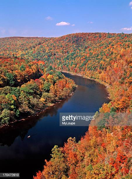 The Upper Delaware Scenic and Recreational River at Hawks Nest between Pike Co Pennsylvania and Orange Co NY