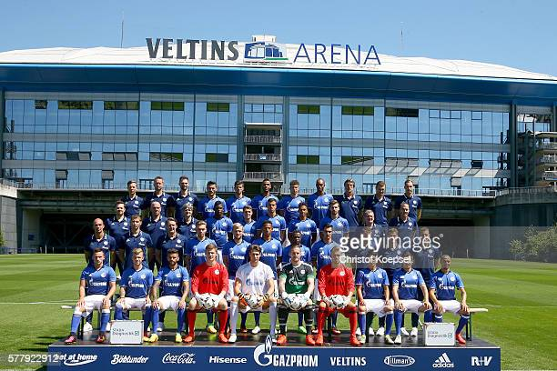 GELSENKIRCHEN GERMANY JULY The upper row starts with leader of physiotherapists Thomas Kuehn physiotherapist Holger Remmers physiothrapist Tim...