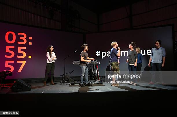 The Upright Citizens Brigade Touring Company perform during the Audi A3 #PaidMyDues Experience at Hangar 8 In Santa Monica on May 7 2014 in Santa...