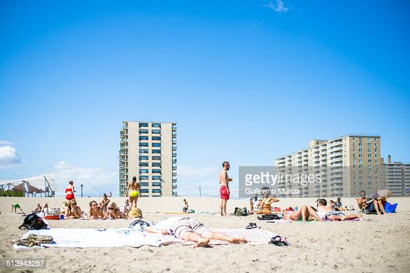 The urbanism and the people at Rockaway Beach in Queens New York August 24 2014