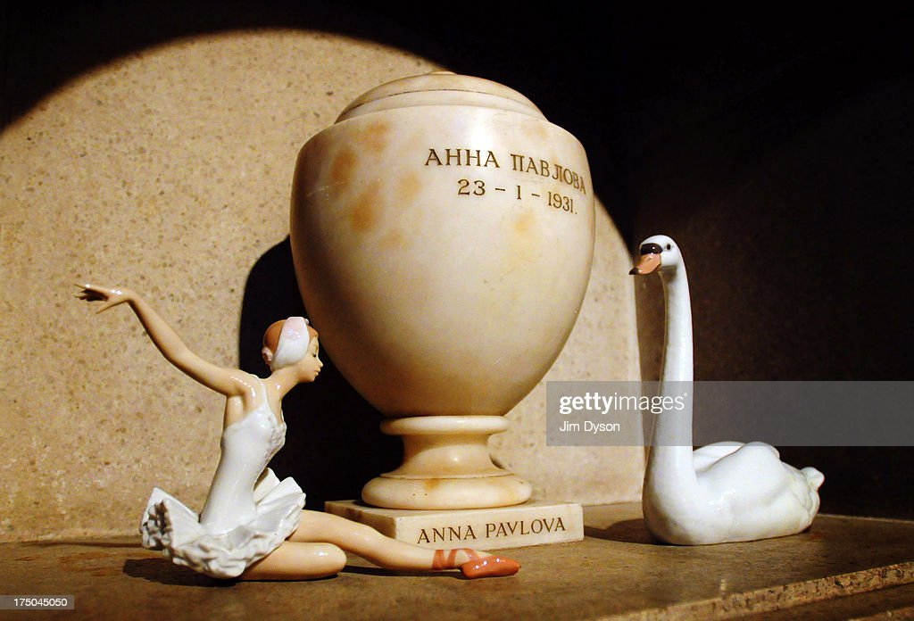 The urn containing the ashes of ballerina ANNA PAVLOVA in the Ernest George Columbarium at Golders Green Crematorium on November 17 2008 in London...