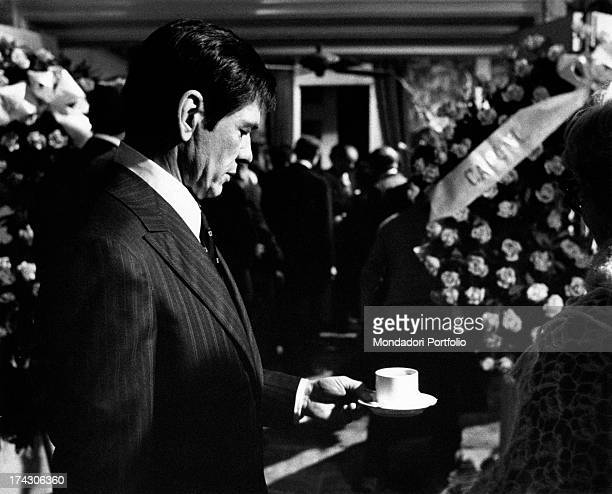 The US actor Charles Bronson in a scene of the film The Valachi Papers directed by Terence Young Bronson is Joe Valachi US criminal member of Bonanno...