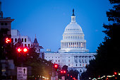 The US Capitol as seen from Freedom Plaza on Pennsylvania Avenue on Saturday night July 12 2014