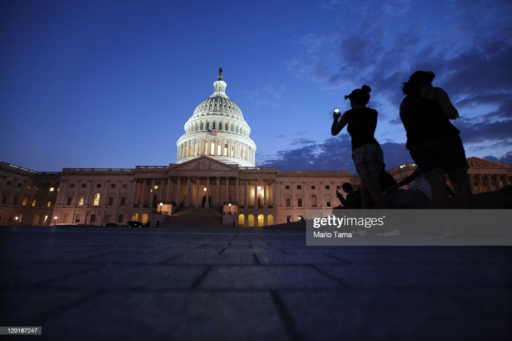 The U.S. Capitol building is illuminated on July 31, 2011 in Washington, DC. U.S. President Barack Obama announced that congressional leaders had reached a tentative agreement to extend the federal debt limit while enacting spending cuts.