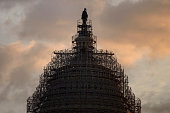 The US Capitol dome is seen on Capitol Hill January 5 2015 in Washington DC US lawmakers return to Washington on January 6 under a new fully...