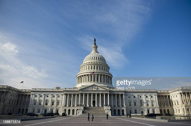 The US Capitol in Washington DC on January 2 on the day after a compromise bill passed the US Congress avoiding the 'fiscal cliff' The agreement...