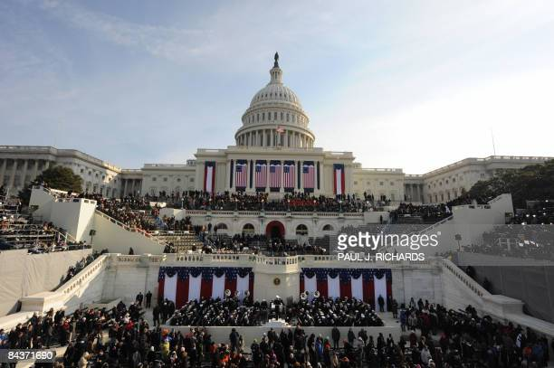 The US Capitol is seen before the inauguration of Barack Obama as the 44th US president in Washington on January 20 2009 AFP PHOTO/Paul J Richards