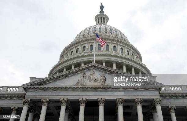 The US Capitol is seen in Washington DC on May 4 2017 after the House of Representatives narrowly passed a Republican effort to repeal and replace...