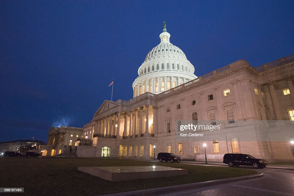 The US Capitol January 1 2013 as US lawmakers work hard toward a midnight deadline averting hundreds of billions of dollars in tax increases and...