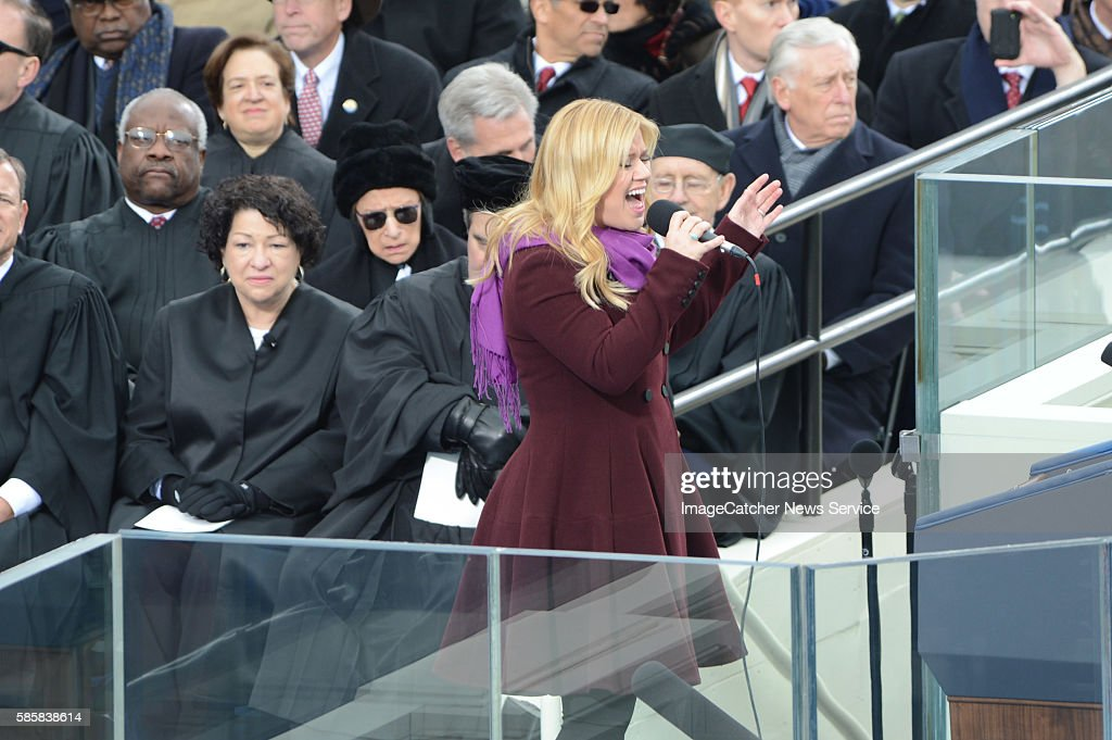 1/21/13 The US Capitol Washington DC President Barack Obama is sworn in for his second term as President of the United States Singer Kelly Clarkston...
