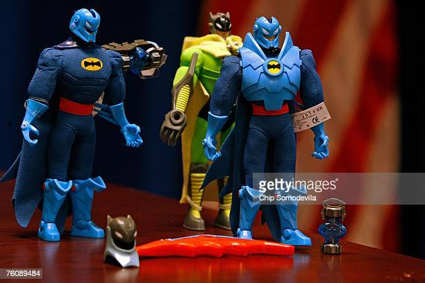 The US Consumer Product Safety Commission announced the recall of millions of toys manufactured by Mattel Inc including these Batman action figure...