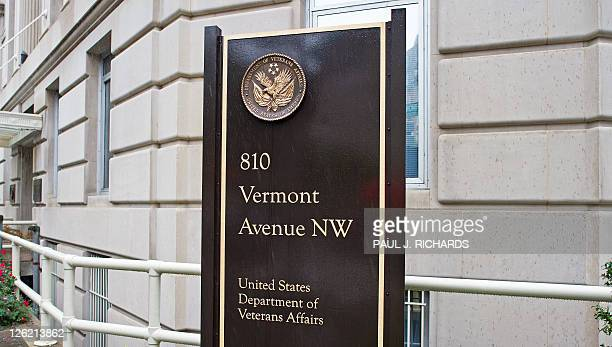 The US Department of Veterans Affairs is seen September 23 on 801 Vermont Avenue N W in Washington DC AFP Photo/Paul J Richards