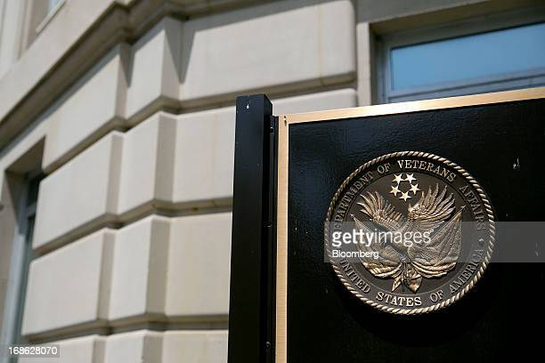 The US Department of Veterans Affairs seal is stands at the headquarters in Washington DC US on Friday May 10 2013 The department's funding has...