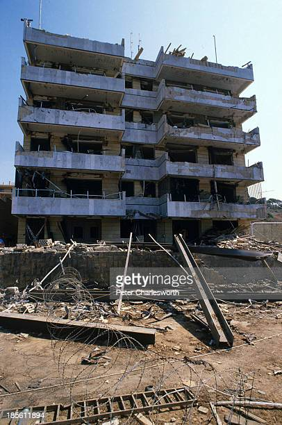 The US Embassy Annex in East Beirut which was badly damaged by a suicide truck bomb attack that killed more than 20 people Many were surprised by the...