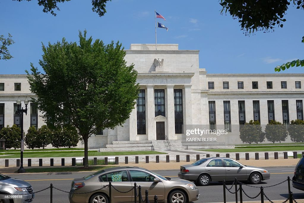 The US Federal Reserve building is seen August 1 2015 in Washington DC AFP PHOTO / KAREN BLEIER