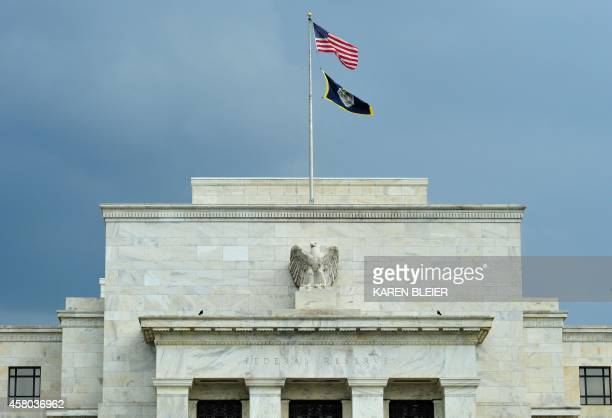 The US Federal Reserve building is seen on August 9 2011 in Washington DC New recession worries and market havoc posed the toughest challenge yet...