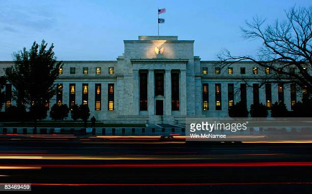 The US Federal Reserve Building is shown October 28 2008 in Washington DC The Federal Reserve is widely expected to announce another interest rate...