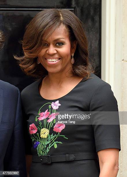 The US First Lady Michelle Obama visits 10 Downing Street on June 16 2015 in London England
